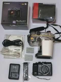 🚚 Canon Powershot G1X類單眼相機+防水殼