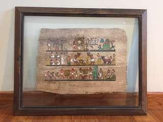 Framed Hemp with Egyptian Painting