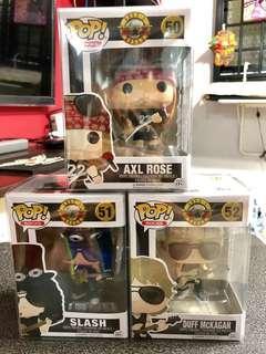 Guns N Roses Funko Pop Full Set (nt Queen, Freddy Mercury, Metallica, Lady Justice, Elvis, Marvel, DC, Nirvana, Kurt Cobain, Alice Cooper, ACDC, KISS, Motorhead, Lemmy, BabyMetal, Blink 182, Motley Crue)