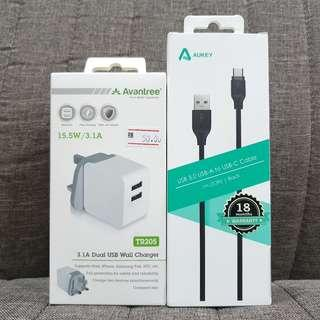 Avantree 3.1A/15.5W Dual USB Charger