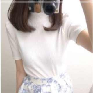yabbi 日本品牌 ingni  黑色蝴蝶結綁帶白色針織上衣 近全新 chanel風格