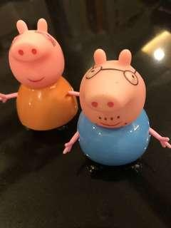 Mommy Pig & Daddy Pig - characters from Peppa Pig Cartoon