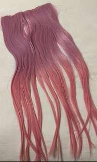 🚚 ombre pink hair extension
