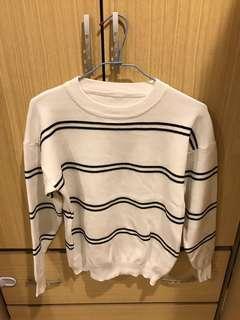 條紋針織衫