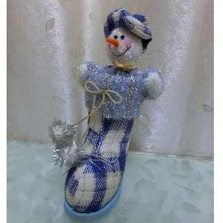 聖誕裝飾 雪人儲物筒 Snowman with storage christmas decoration