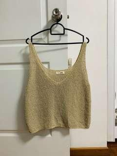 🚚 Knitted Crop Beach Crop Sleeveless Loose Fitting Top