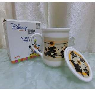 Disney ceramic mug with lid (with box) 迪士尼杯連蓋連盒