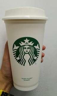 Tumbler Starbucks Reusable Cup Putih Grande Size