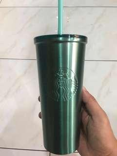 STARBUCKS TEAL STAINLESS TUMBLER