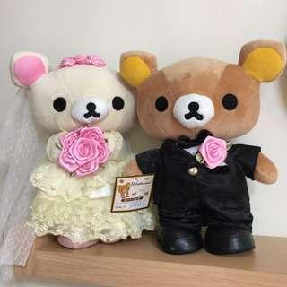 🚚 拉拉熊 結婚 娃娃 新娘新郎