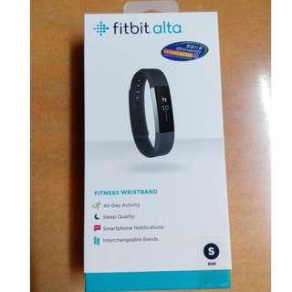 (未開過) fitbit alta Stainless Steel Tracker Black Band 黑色