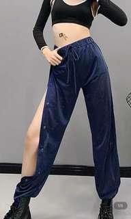 🚚 藍色排扣褲