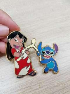 Stitch & lilo Disney Pins 史迪仔許願骨