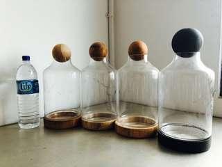 Terrarium apothecary glass jars - 1 left