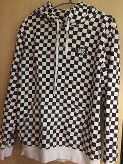 Vans checkerboard hoodie 黑白格仔連帽衛衣