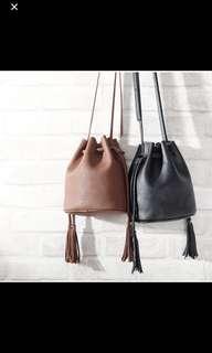 Tassel Sling Bucket Bag
