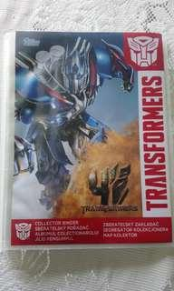 Transformers Topps Collector Binder
