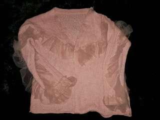 Jaket tutu ruffle pink