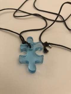 Swarovski crystal necklace jigsaw piece