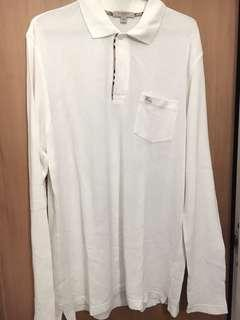 全新未著過Burberry 白色 White polo shirt