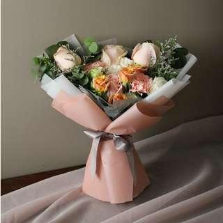 Creamy Pastel Flower Bouquet