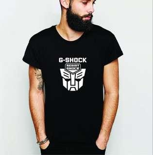 G-Shock x Transformers 100% Cotton T-Shirt!!