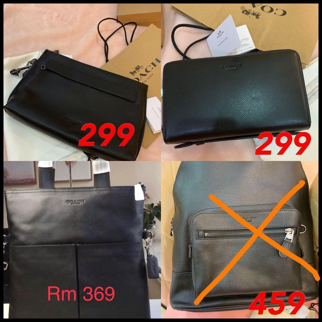 (28/03/19)Ready Stock original coach women wallet handbag clutch mk wristlet backpack bag listing Tory Burch men wallet messengers bag