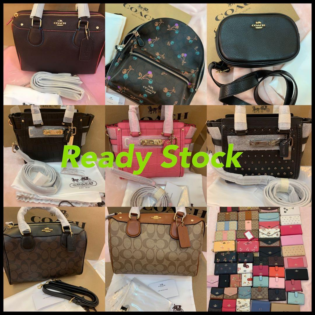(31/03/19)Authentic coach women wallet handbag clutch wristlet mk backpack bag ready stock listing Tory Burch men crossbody leather