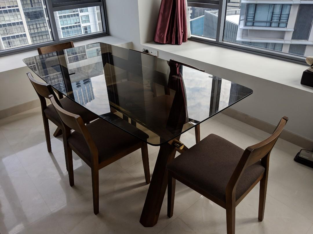 7 Piece Kitchen Dining Table And Chairs