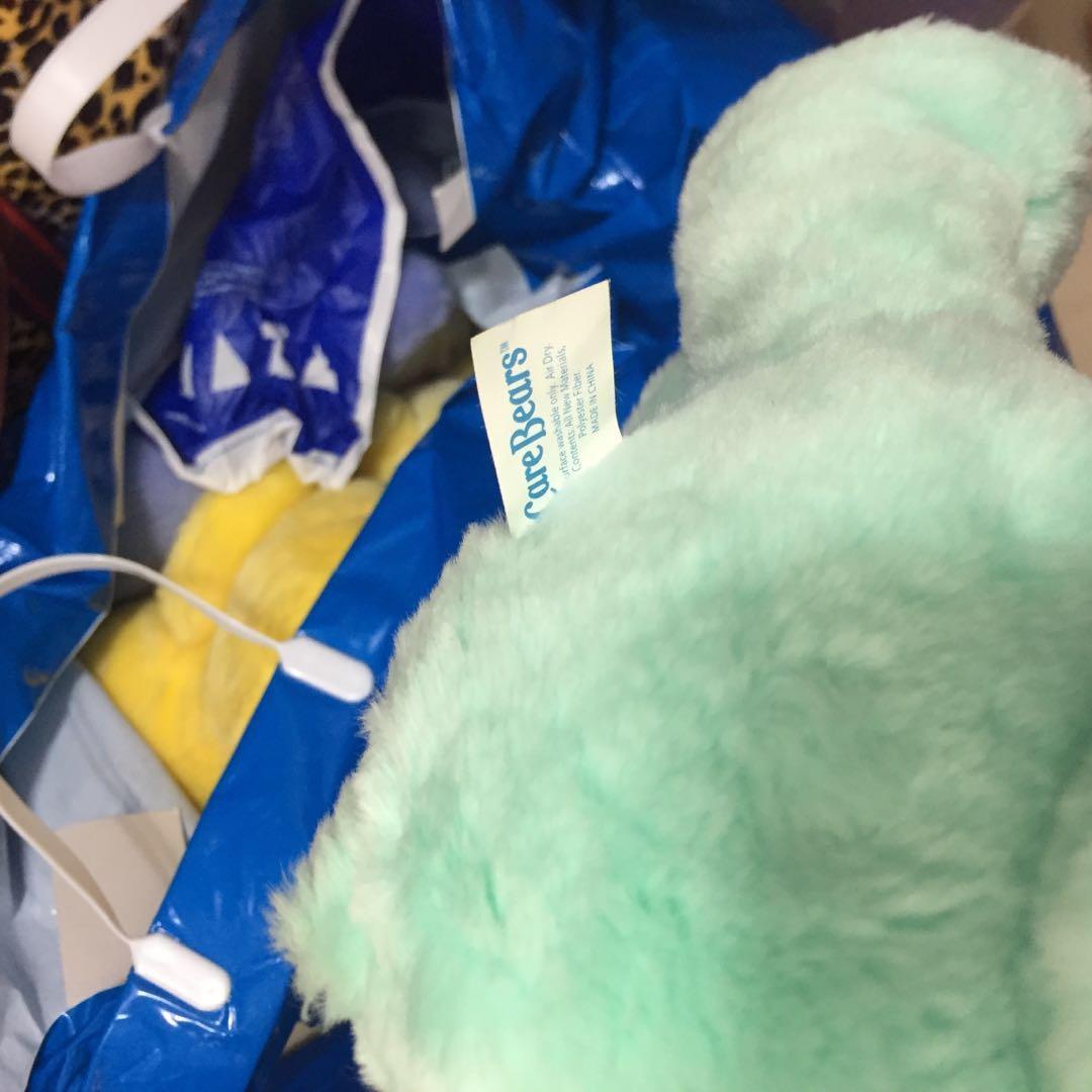 絕版$90 sample sale : Care Bears  13寸大公仔 出口日本 愛心熊 Line Brown 熊 7-11 鬆弛熊 Duffy Bear 多買優惠 愛心熊 sample公仔
