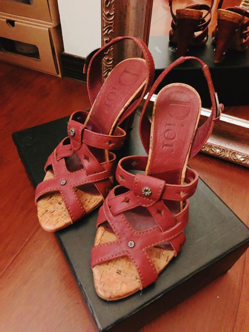 二手|真品 DIOR 波西米亞古幣跟鞋 36