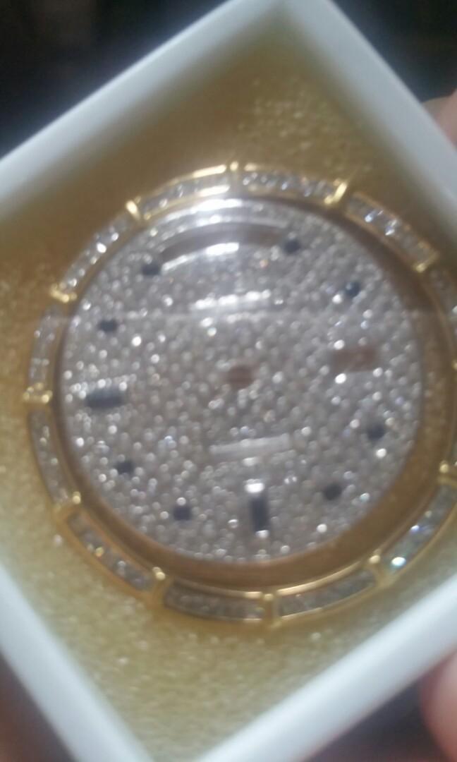 After market daydate diamond bezel n full diamo d dial