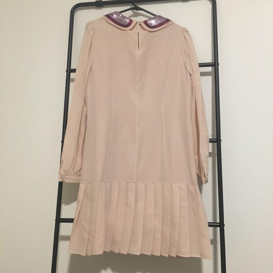 Alannah Hill Pink Sequinned Collar Dress