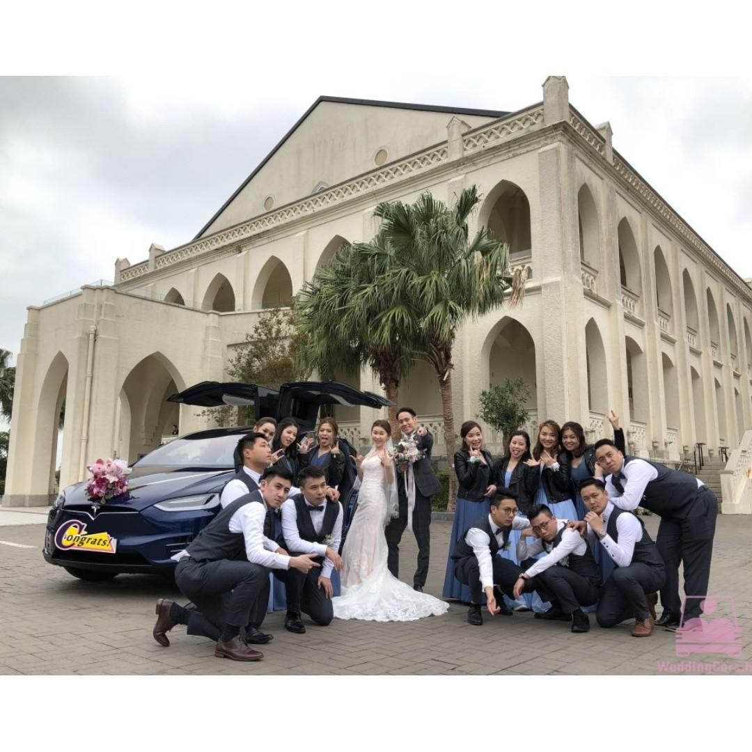 Tesla 結婚花車 租花車 WeddingCars.hk - Model X 型格鷹翼門 Model S 優雅簡約 結婚花車