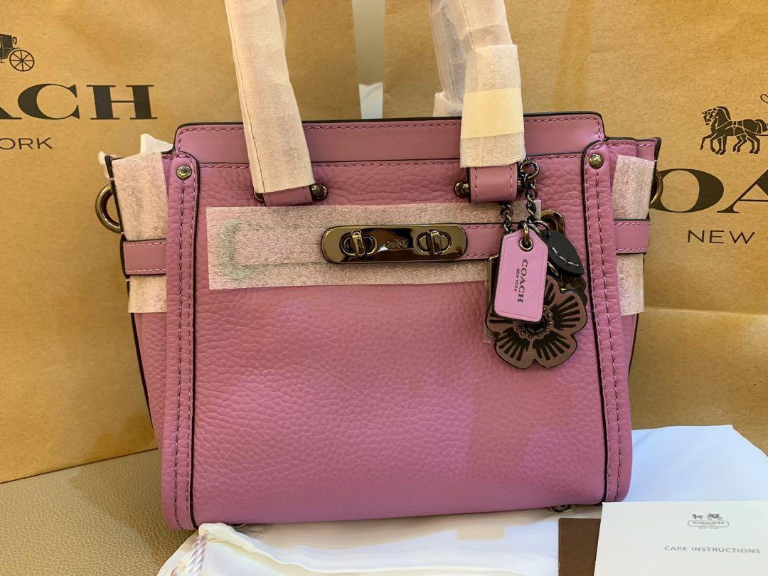 Authentic coach mini swagger purple 21