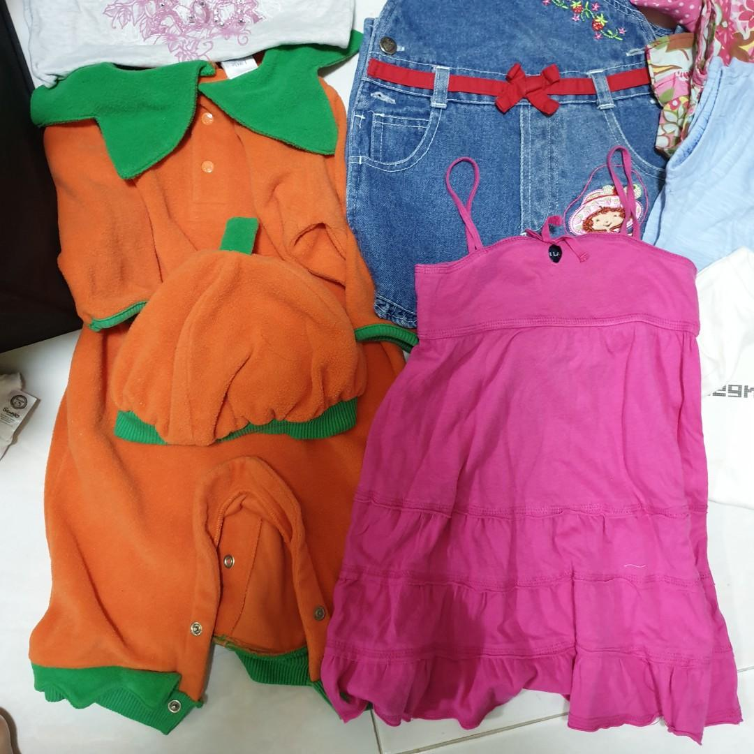 Baby Girl Clothes Romper, Dress, t-shirt, Denim Jumper, Singlet, 6to9mths, 12mths, 18to24mth