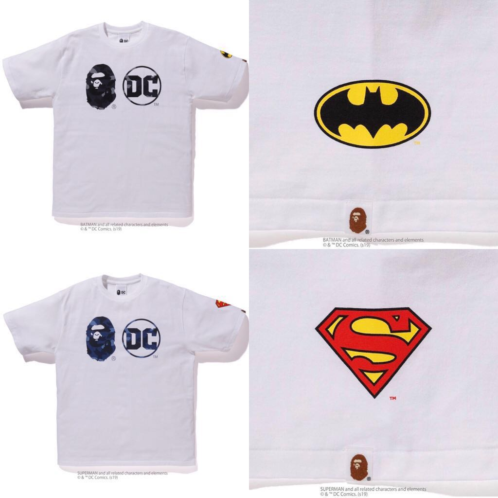 701cd3c0 BAPE X DC TEE, Men's Fashion, Clothes, Tops on Carousell