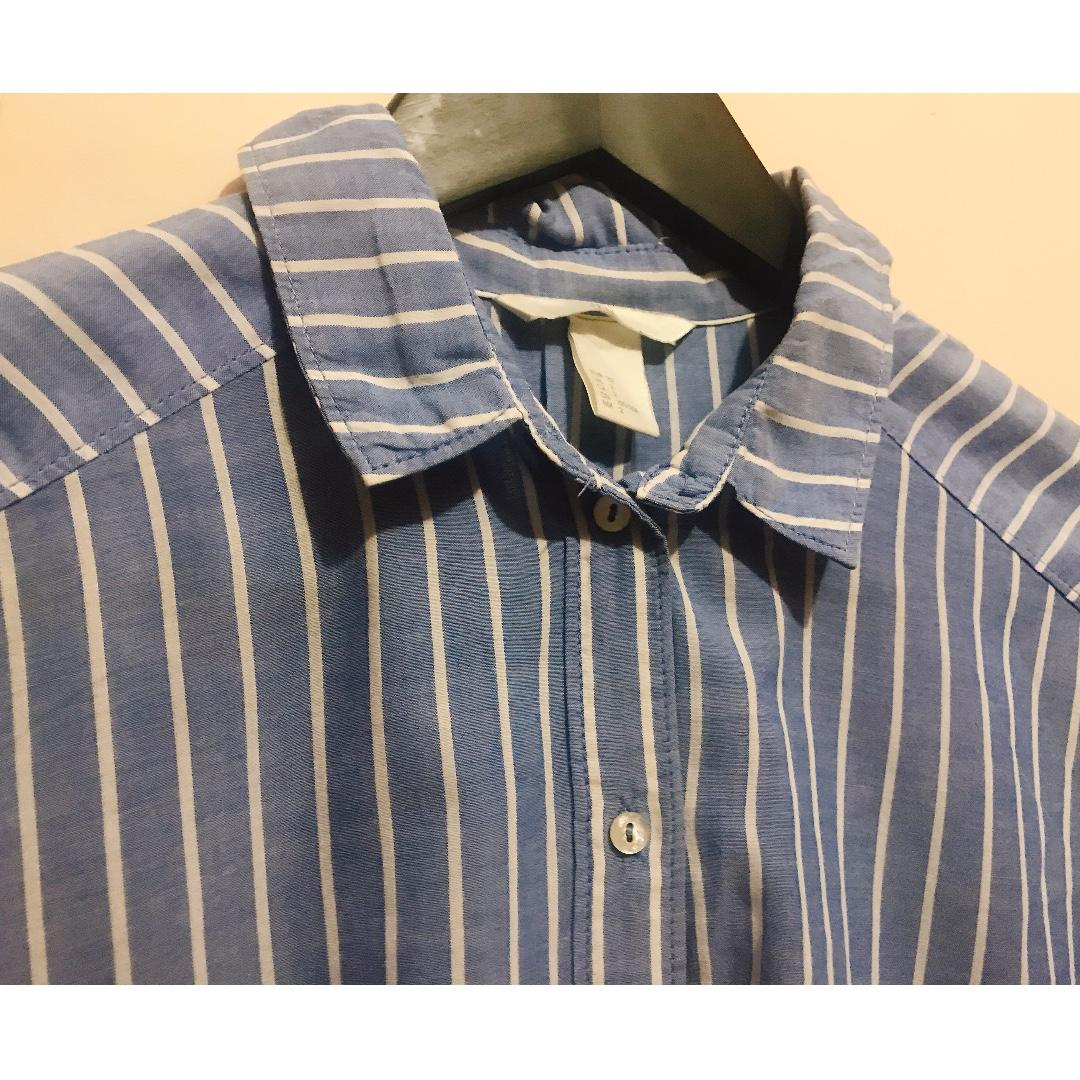 Blue-and-white Stripes Shirt