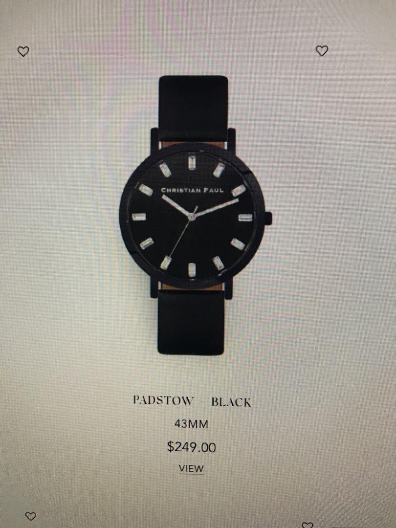 Christian Paul Watch & Bracelet Gift Set