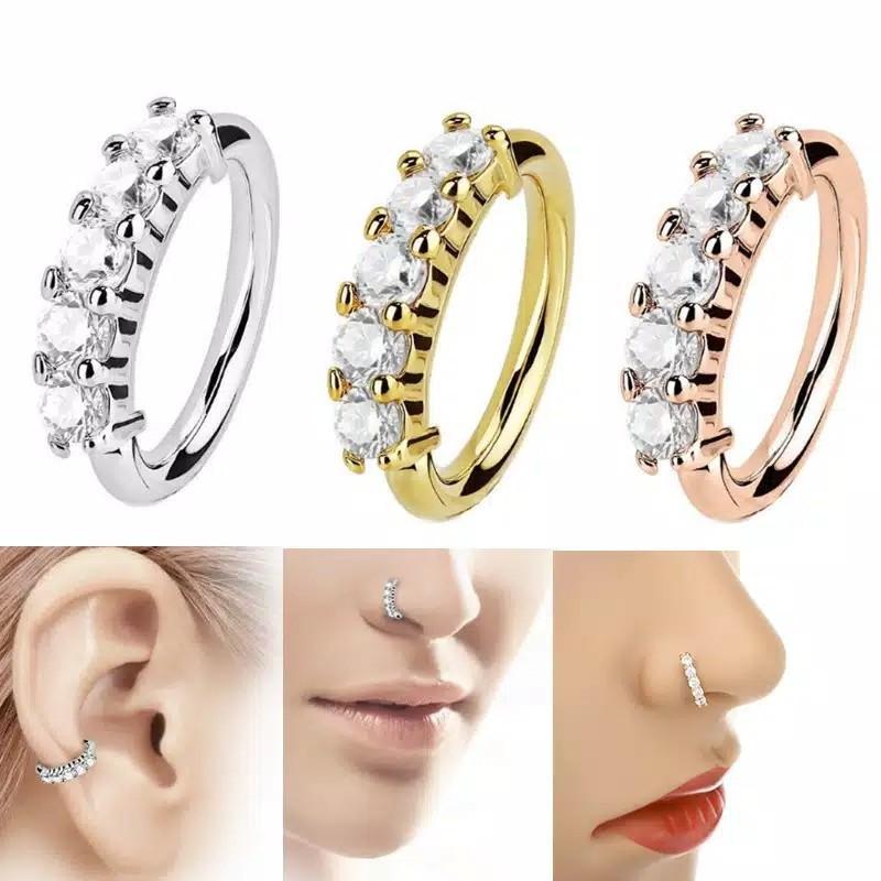 Cincin Hidung Telinga Hoop Helix Cartilage Earring