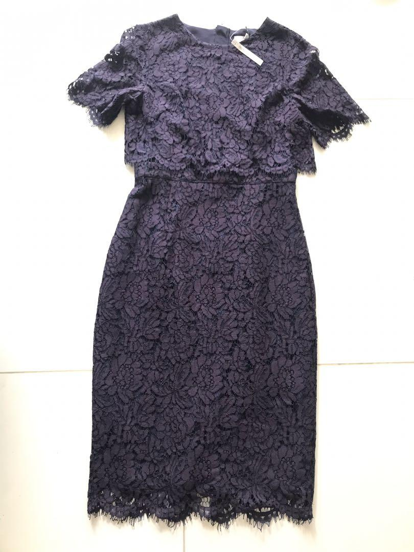 Deep purple lace dress