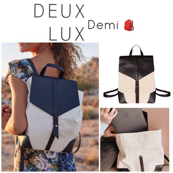 Deux Lux Demi Backpack brand new dust bag unopened canvas faux leather