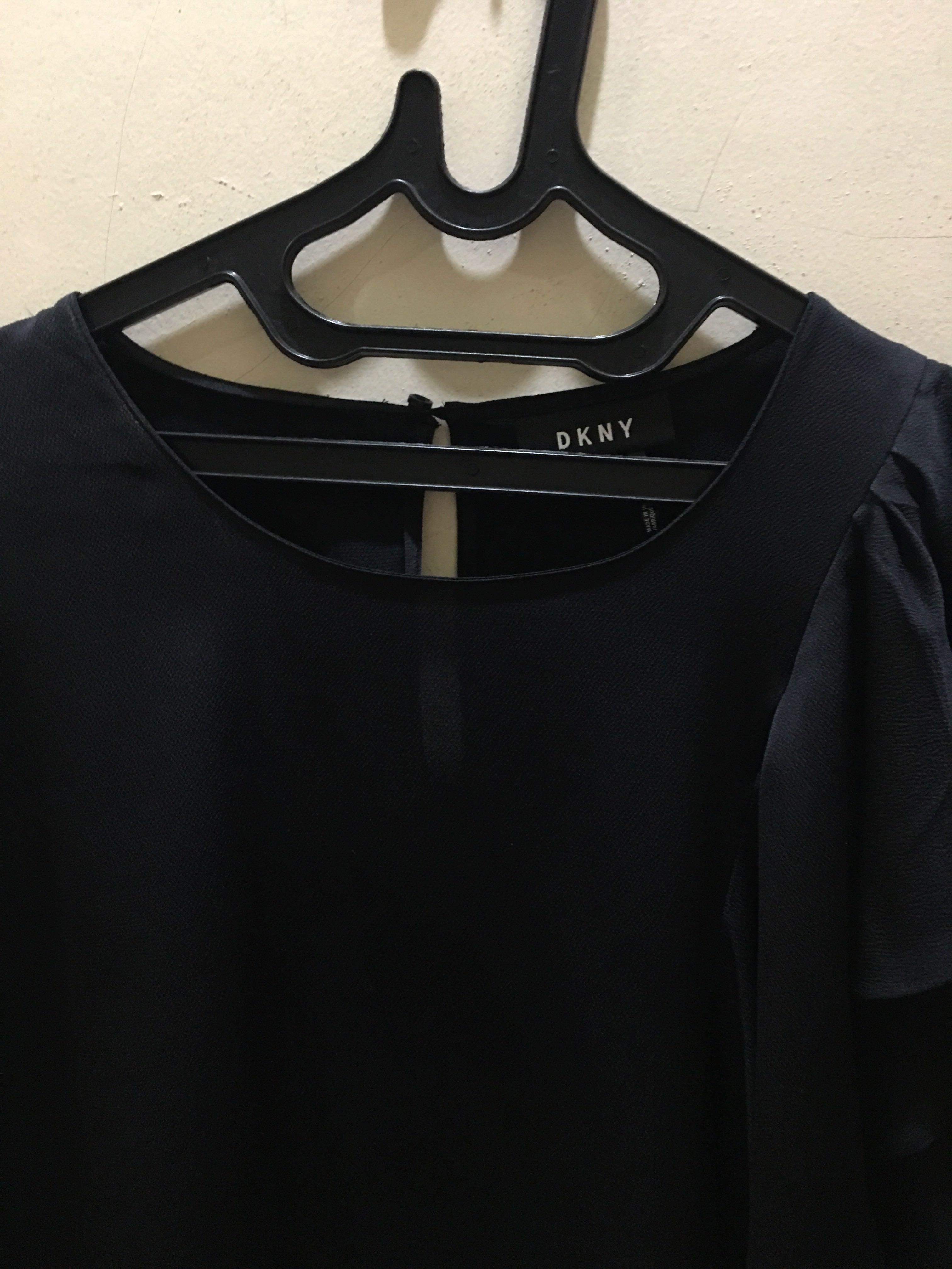 DKNY layer black top #dibuangsayang