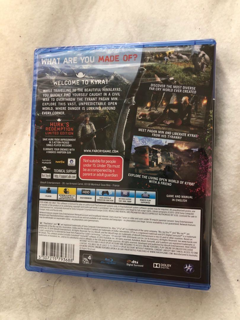 Farcry 4 limited edition PS4 game