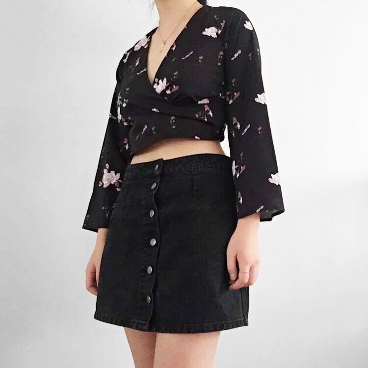 fb0f38e5f11f0 Floral Kimono style festival wrap crop top