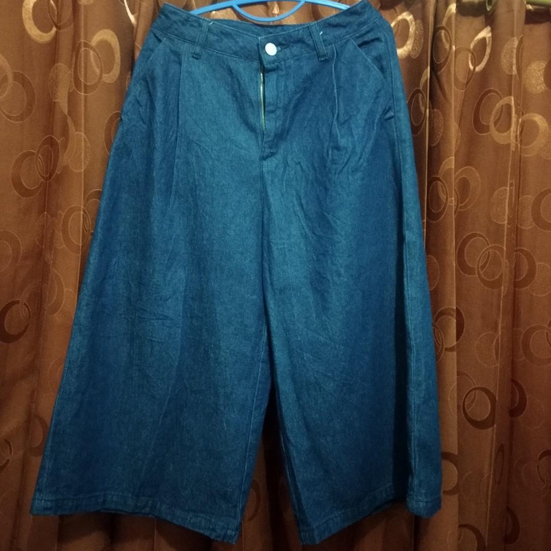FREE ONGKIR celana kulot high waist JEANS