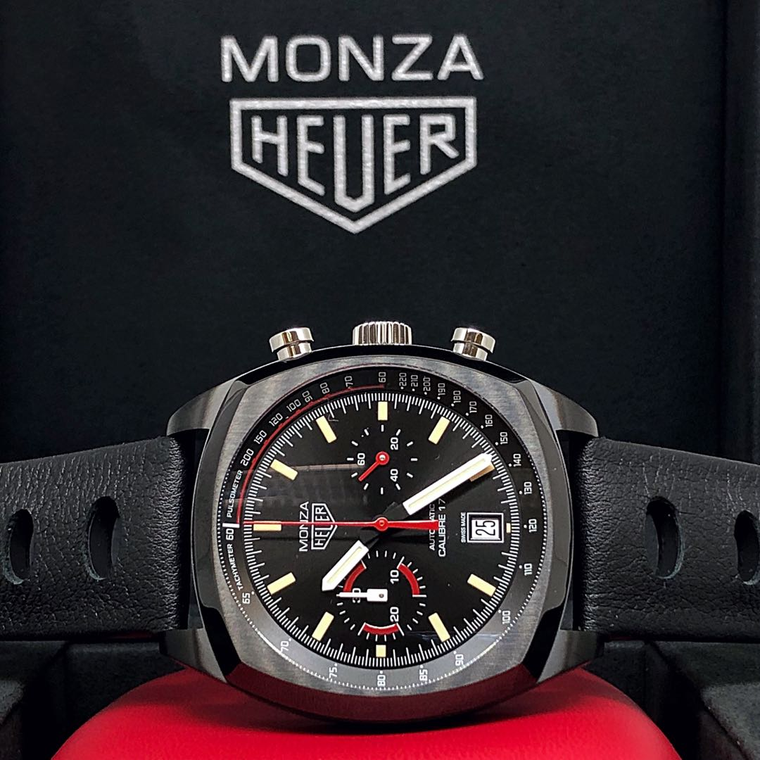 FS.BNIB TAG HEUER MONZA HERITAGE CALIBRE 17 AUTOMATIC CHRONOGRAPH LIMITED EDITION WATCH CR2080.FC6375