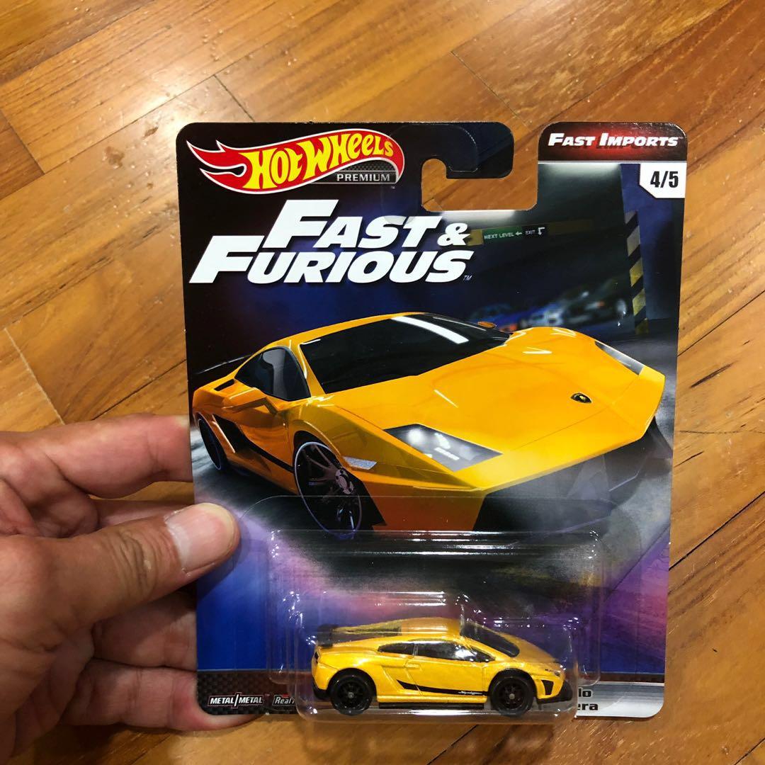 Hot Wheels Fast Furious Lamborghini Gallardo Japanese Card Toys
