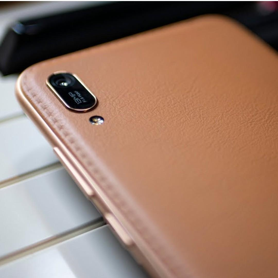 Huawei Y6 Pro 2019 - Dewdrop Display With Leather Back Cover