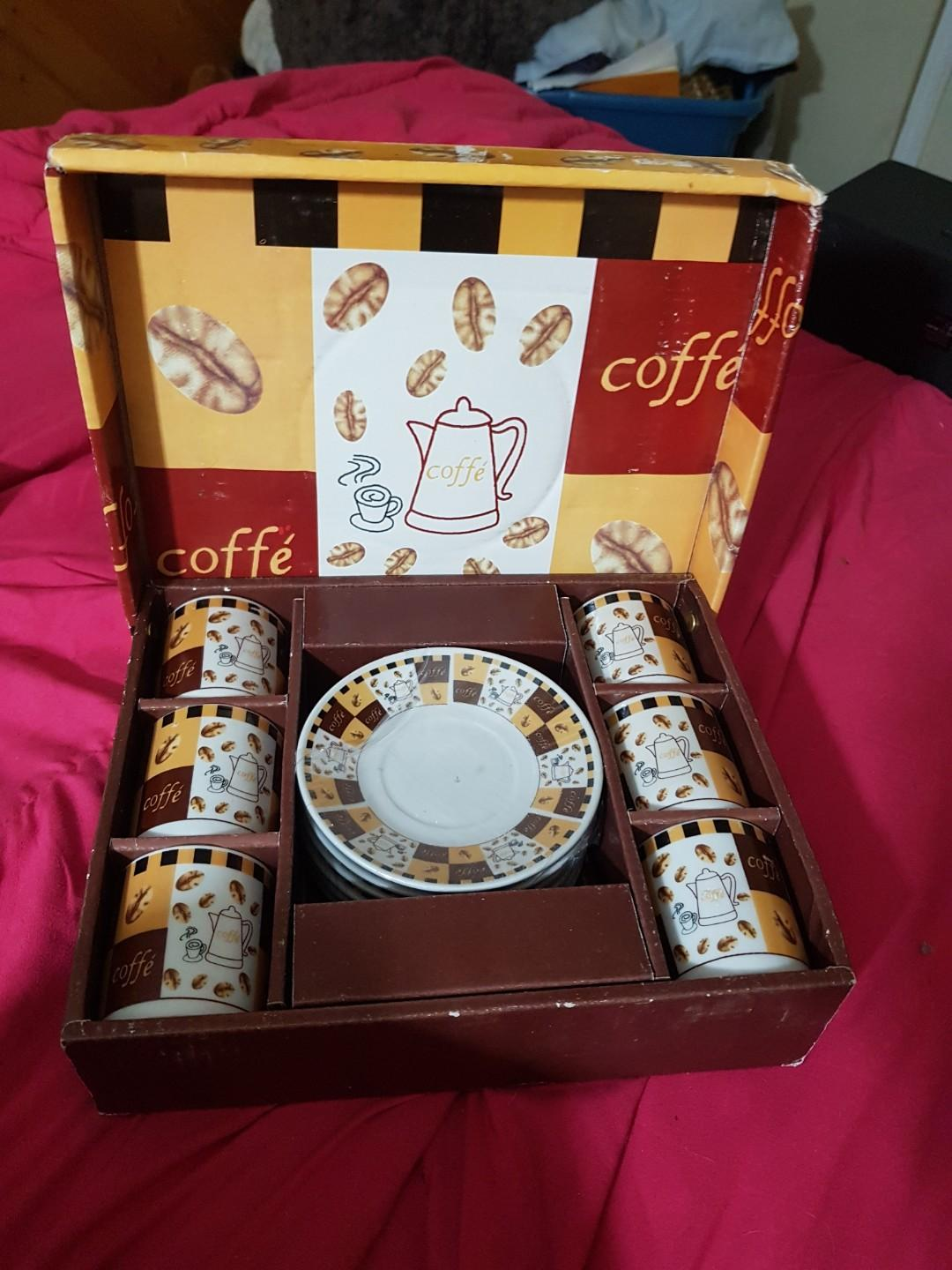 Imported tea set still in packaging